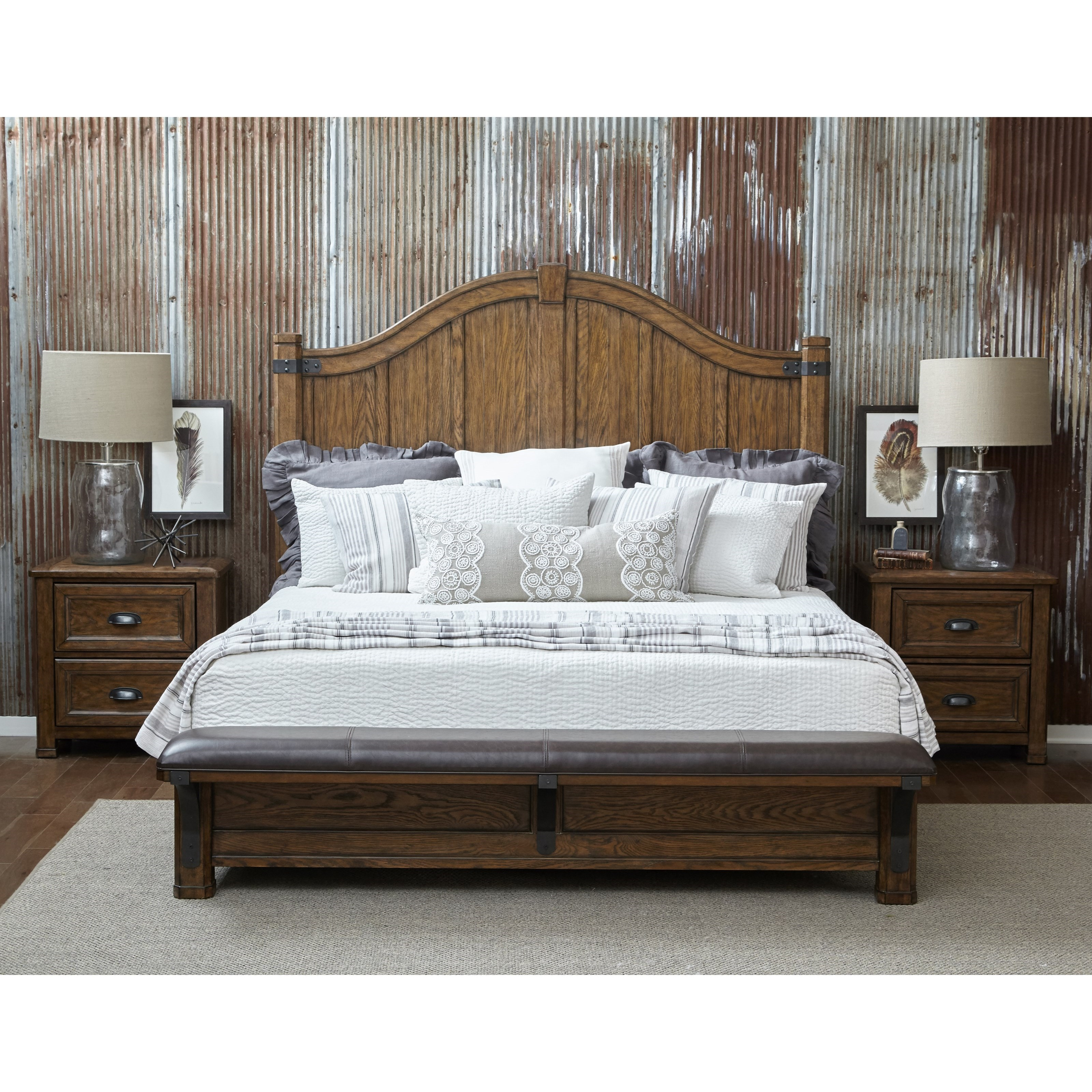 Eric Churchu0027s Highway To Home By Pulaski Eric Church Heartland Falls Queen  Bedroom Group   Item