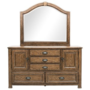 Pulaski Furniture Heartland Falls Dresser and Mirror Combo