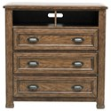 Pulaski Furniture Heartland Falls 3 Drawer Media Chest with Open Compartments