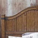 Pulaski Furniture Heartland Falls California King Panel Bed with Unique Bench Footboard