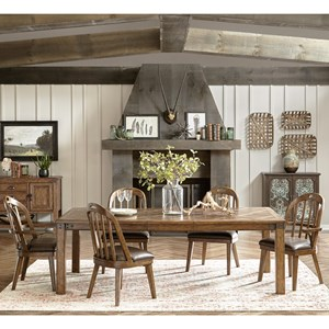 Eric Church's Highway to Home by Pulaski Eric Church Heartland Falls 7 Piece Table and Chair Set