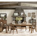 Pulaski Furniture Heartland Falls 7 Piece Table and Chair Set - Item Number: P002240+2x61+4x60