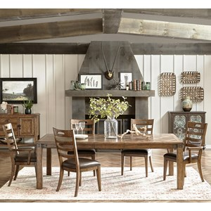 Pulaski Furniture Heartland Falls 7 Piece Table and Chair Set