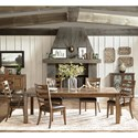 Pulaski Furniture Heartland Falls 7 Piece Table and Chair Set - Item Number: P002240+2x71+4x70