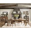 Pulaski Furniture Heartland Falls Dining Leg Table with 1 18