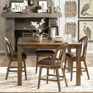 Pulaski Furniture Heartland Falls 5 Piece Gathering Table and Chair Set