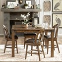 Pulaski Furniture Heartland Falls 5 Piece Gathering Table and Chair Set - Item Number: P002242+4x502