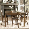 Pulaski Furniture Heartland Falls 5 Piece Gathering Table and Chair Set - Item Number: P002242+4x503
