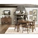 Pulaski Furniture Heartland Falls Gathering Table with Metal Leg Brackets