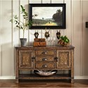 Pulaski Furniture Heartland Falls 3 Drawer Buffet with Plank Effect Top