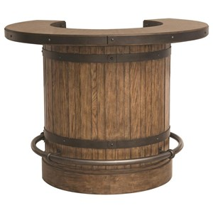 Pulaski Furniture Heartland Falls Barrel Bar