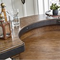 Pulaski Furniture Heartland Falls Barrel Bar with Decorative Metal Bands