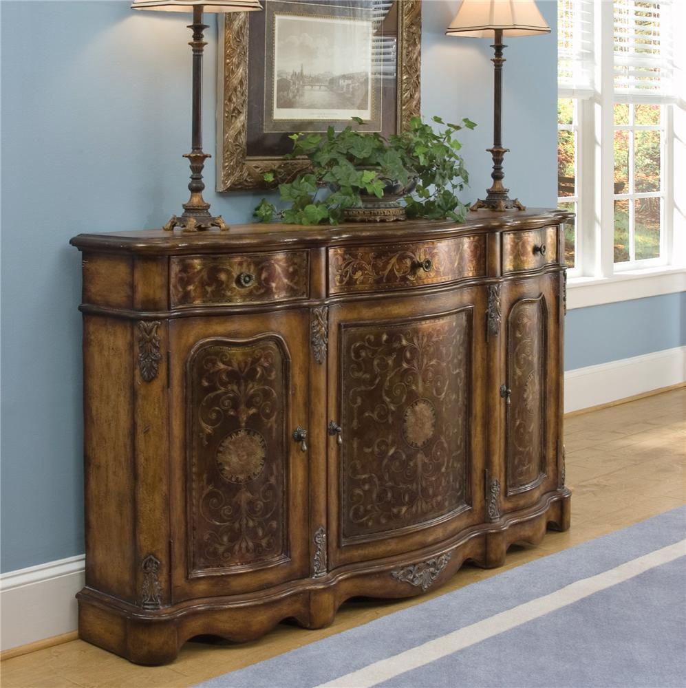 Pulaski furniture accents 625222 crete credenza baer 39 s furniture buffets - Essential accent furniture for your home ...