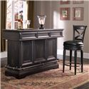 Pulaski Furniture Accents Home Bar with Wine Rack and Three Drawers