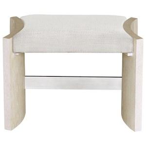 Transitional Upholstered Vanity Stool
