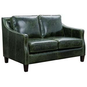 Transitional Loveseat with Nail Head Trim
