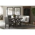 Pulaski Furniture Modern Authentics Shelter Back Nailhead Trim Settee