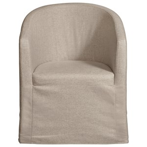 Pulaski Furniture Modern Authentics Slipcover Barrel Back Chair with Casters