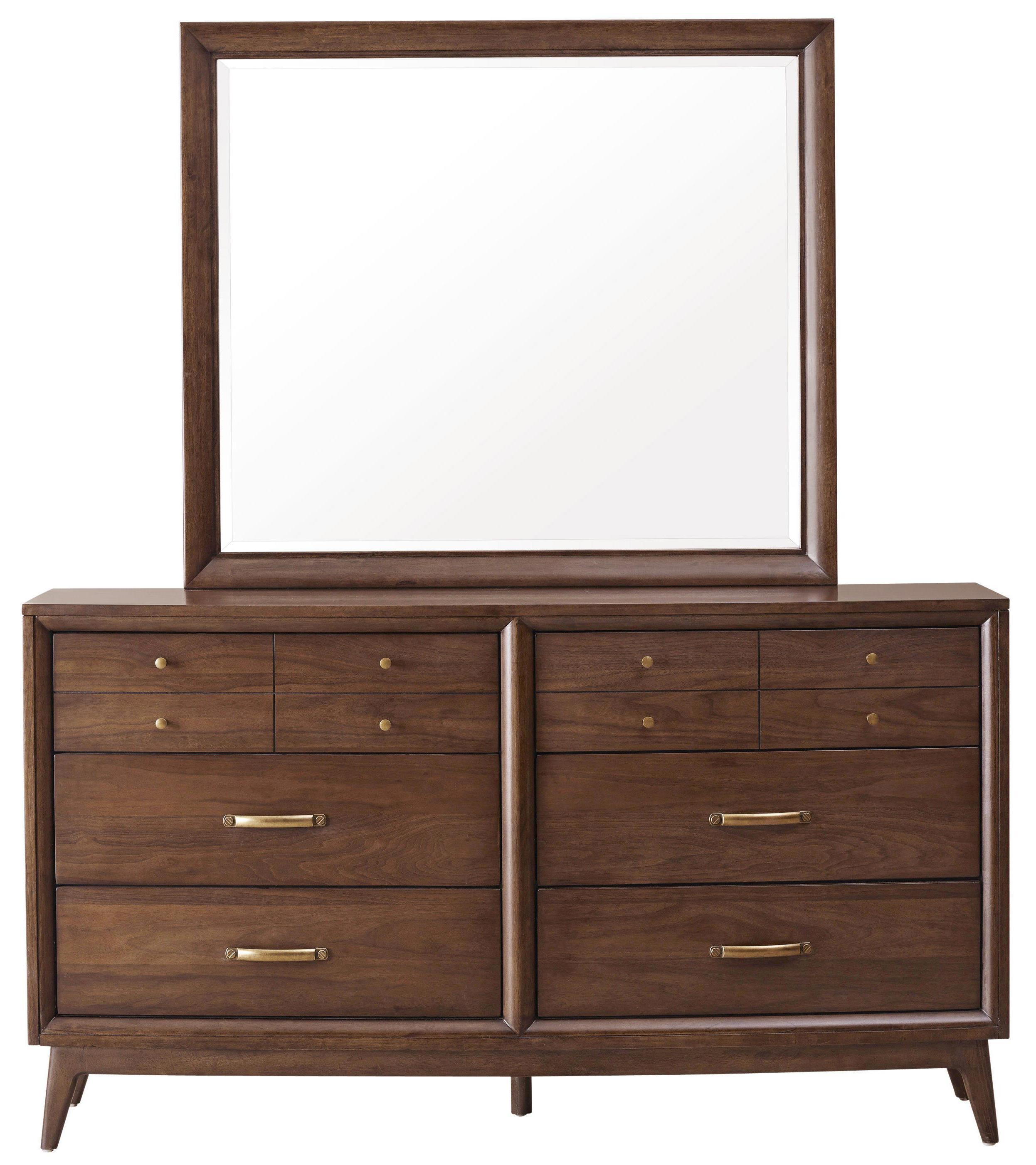 Pulaski Furniture Modern Harmony Dresser & Mirror Set - Item Number: 403100+110