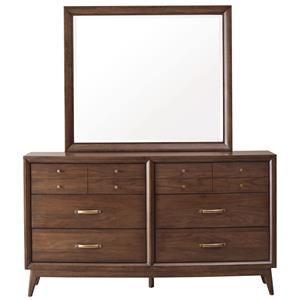 Pulaski Furniture Modern Harmony Dresser & Mirror Set