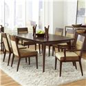 Pulaski Furniture Modern Harmony 7 Pc Dining Table Set w/ Uphostered Chairs