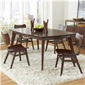 Pulaski Furniture Modern Harmony 5 Pc Dining Table Set - Item Number: 403240+4x260