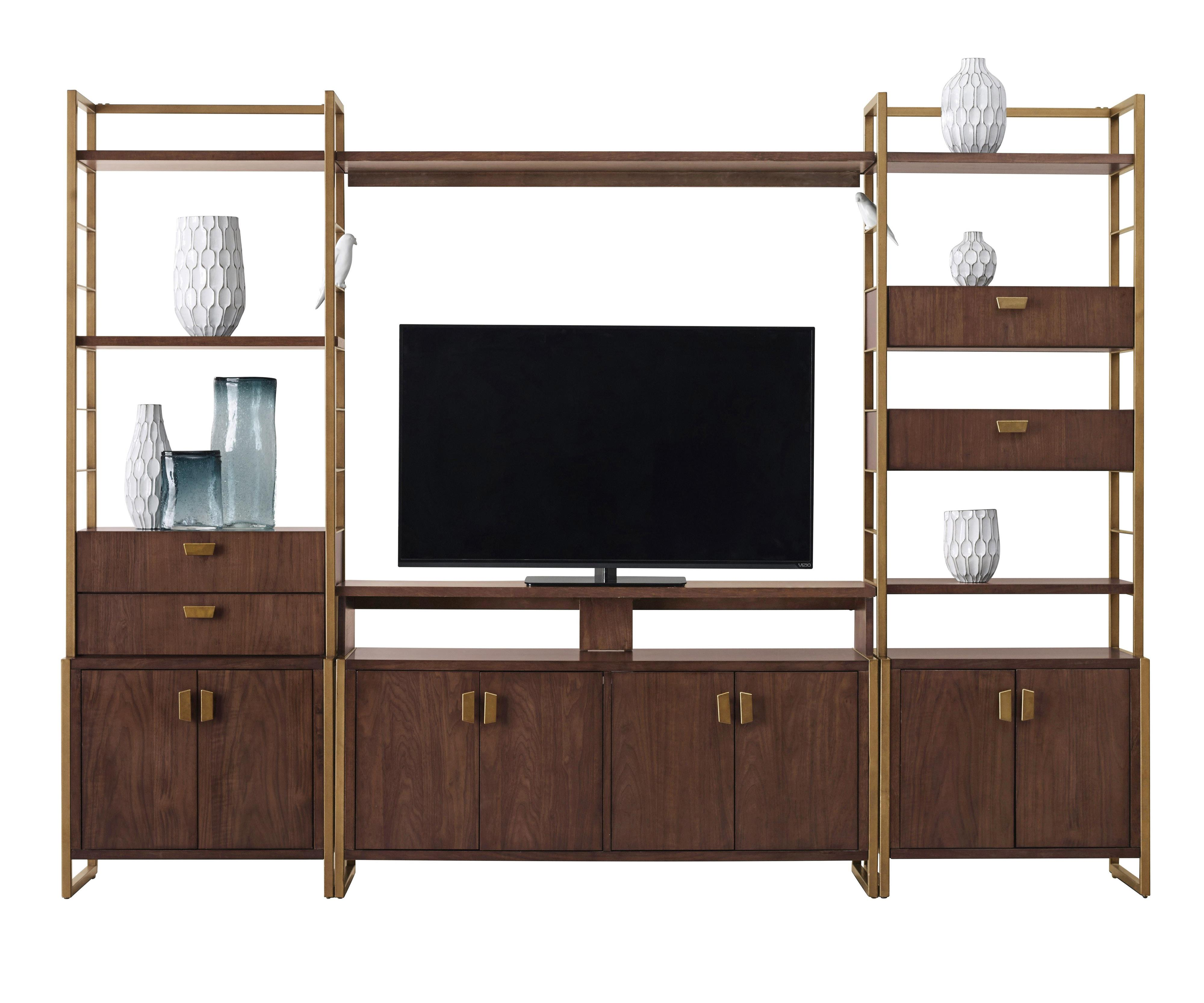 Pulaski Furniture Modern Harmony Entertainment Wall Console - Item Number: 403700+702+705