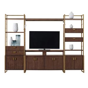 Pulaski Furniture Modern Harmony Entertainment Wall Console