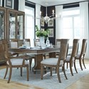 Pulaski Furniture Mystic 9-Piece Table and Chair Set - Item Number: P062241+0+2x71+6x70