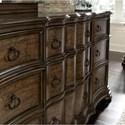 Pulaski Furniture Quentin 9 Drawer Dresser with Unique Serpentine Shaping