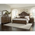 Pulaski Furniture Quentin King Bed with Shaped Upholstered Headboard Panels