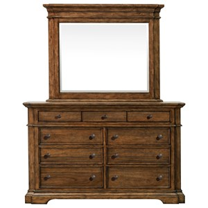 Pulaski Furniture Reddington Dresser and Mirror Combo