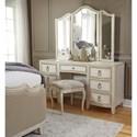Pulaski Furniture Reece Glamorous 7-Drawer Vanity and Mirror Set