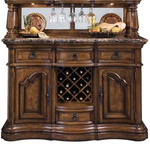 Pulaski Furniture San Mateo Marble Top Sideboard