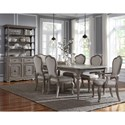 Pulaski Furniture Simply Charming Dining Room Group - Item Number: P043000 Dining Group 6