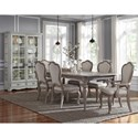 Pulaski Furniture Simply Charming Dining Room Group - Item Number: P043000 Dining Group 7