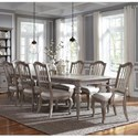 Pulaski Furniture Simply Charming 9-Piece Dining Set - Item Number: P043240+261+3x260