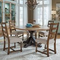 Pulaski Furniture The Art of Dining 6-Piece Table and Chair Set - Item Number: P119109+10+5x209