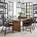Pulaski Furniture The Art of Dining 7-Piece Table and Chair Set - Item Number: P119114+6x200