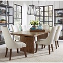 Pulaski Furniture The Art of Dining 7-Piece Table and Chair Set - Item Number: P119114+6x207