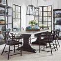 Pulaski Furniture The Art of Dining 7-Piece Table and Chair Set - Item Number: P119121+2+6x200