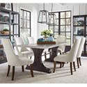 Pulaski Furniture The Art of Dining 7-Piece Table and Chair Set - Item Number: P119121+2+6x207
