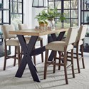 Pulaski Furniture The Art of Dining 5-Piece Bar Table and Stool Set - Item Number: P119123+4+4x217