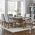 Pulaski Furniture The Art of Dining 7-Piece Table and Chair Set - Item Number: P119132+3+2x227+4x226