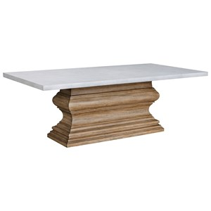Rectangular Pedestal Base Dining Table