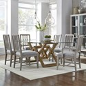 Pulaski Furniture The Art of Dining 7-Piece Table and Chair Set - Item Number: P119144+5+2x229+4x228