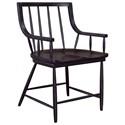 Pulaski Furniture The Art of Dining Black Windsor Chair - Item Number: P119200
