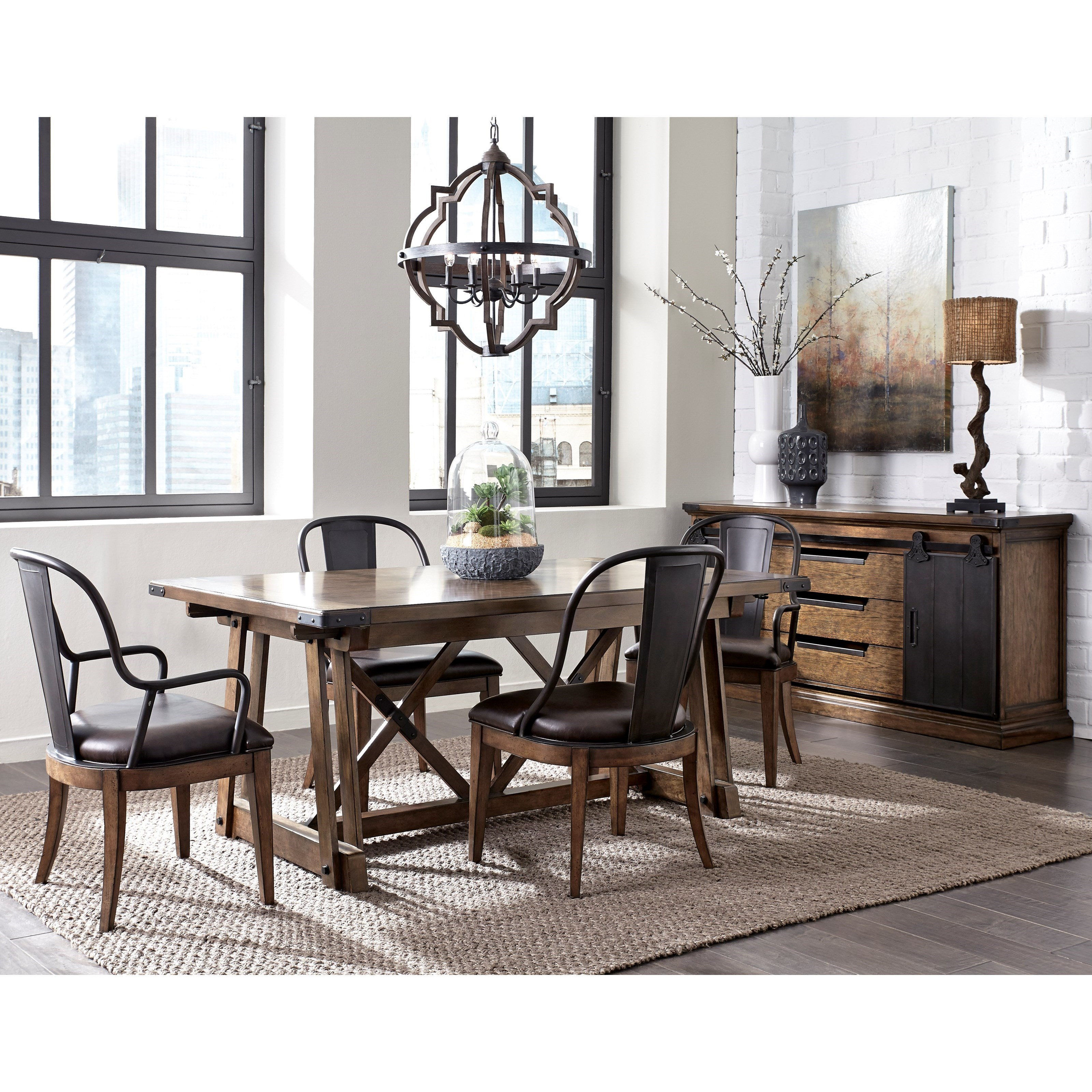 Pulaski furniture weston loft formal dining room group wayside furniture formal dining room - Pulaski dining room ...