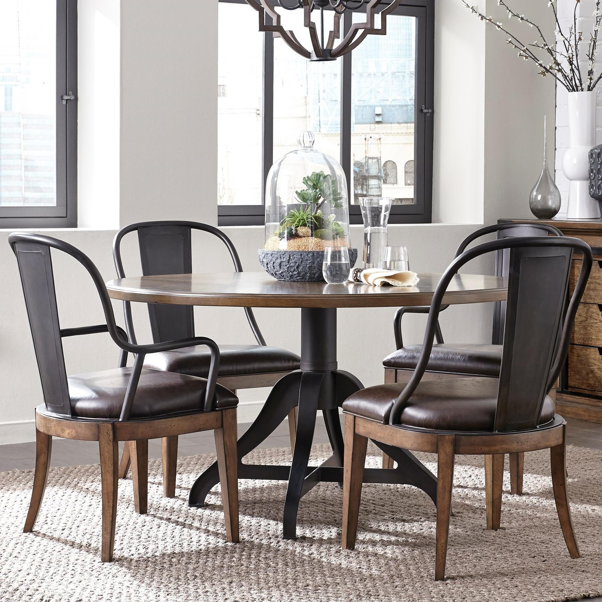 Pulaski Furniture Weston Loft 5 Piece Table and Chair Set - Item Number: P001230+1+2x271+2x270