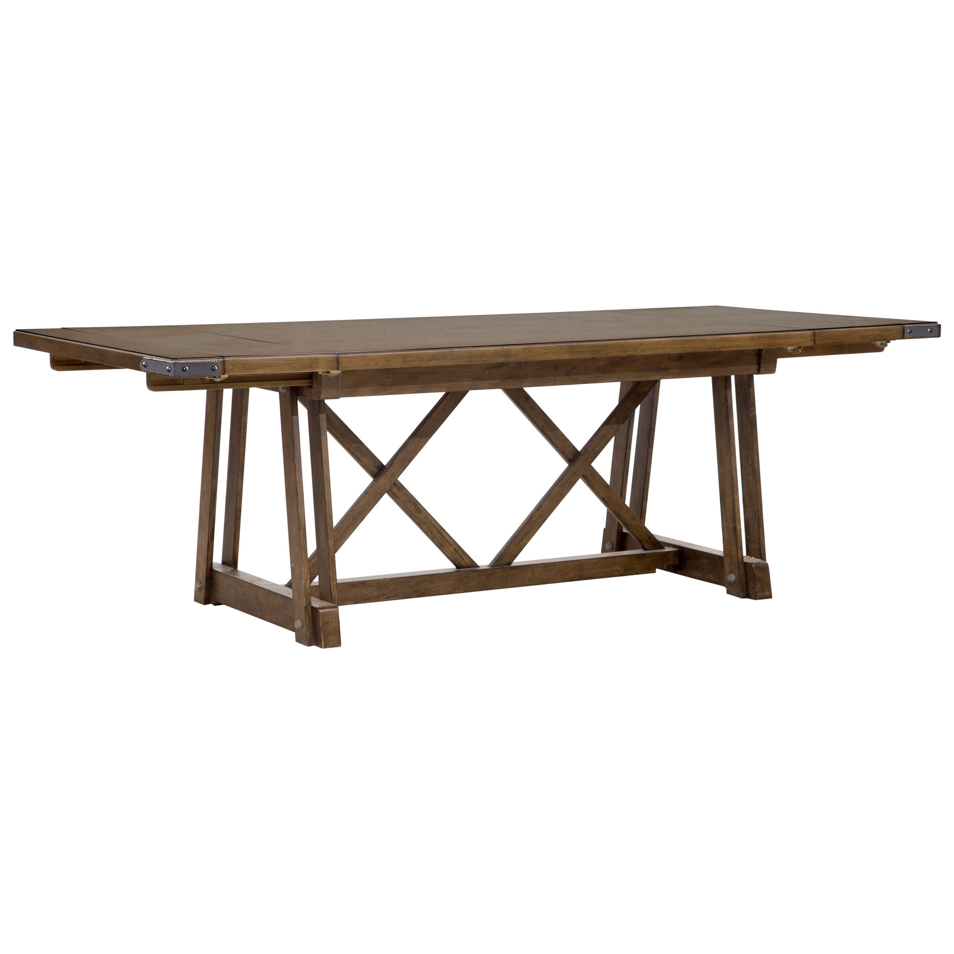 ... John V Schultz Furniture By Pulaski Furniture Weston Loft 7 Piece  Trestle Table And ...